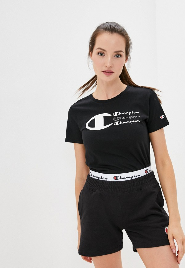 женская спортивные футболка champion, черная