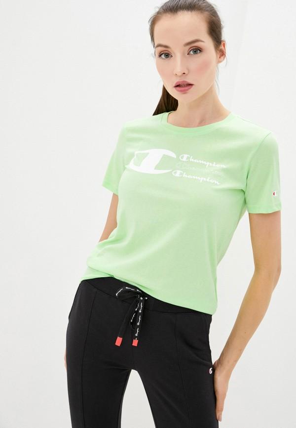 женская спортивные футболка champion, зеленая