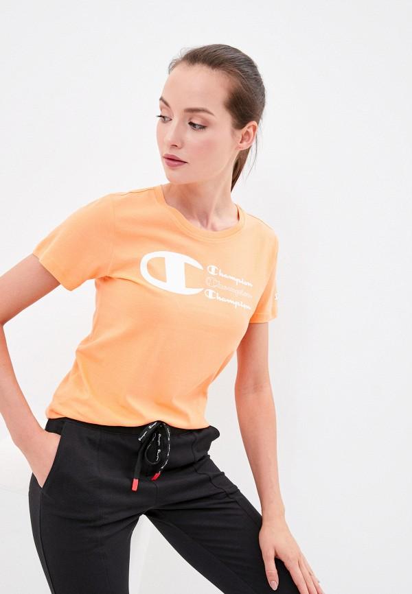 женская спортивные футболка champion, оранжевая