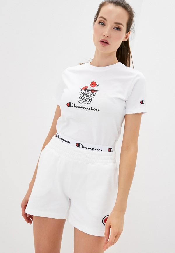женская спортивные футболка champion, белая