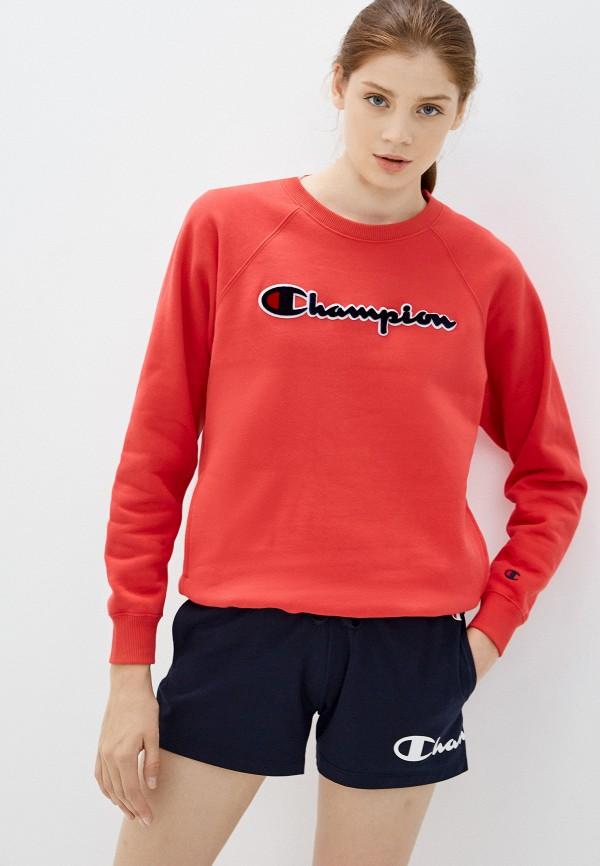 женский свитшот champion, красный
