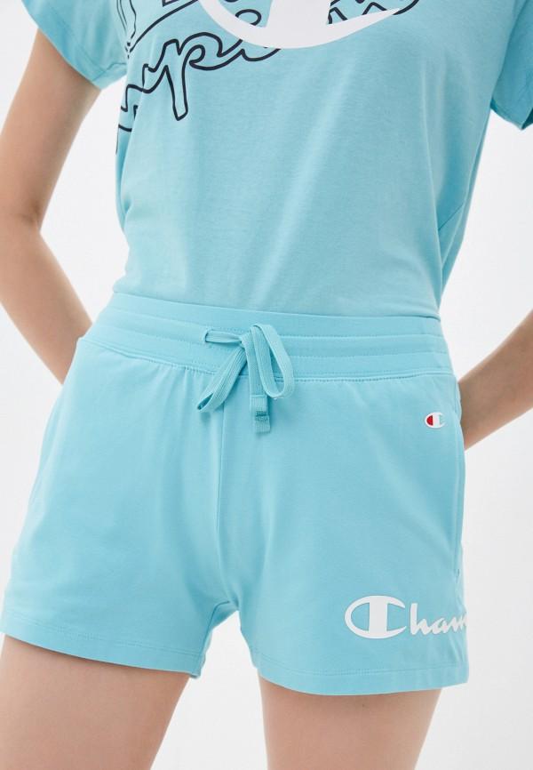 женские спортивные шорты champion, голубые