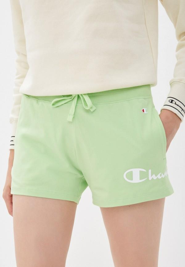 женские спортивные шорты champion, зеленые