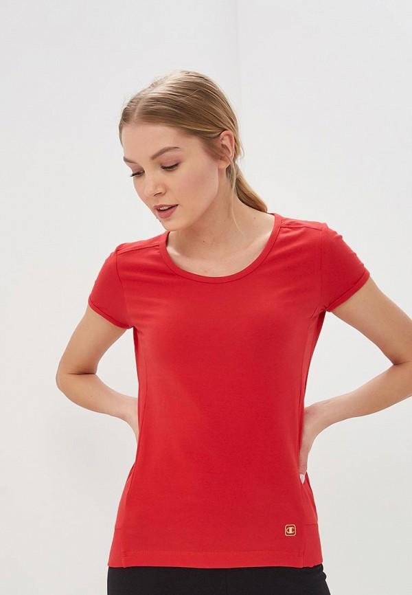 женская футболка champion, красная