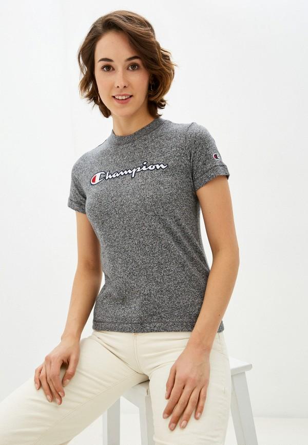 женская спортивные футболка champion, серая