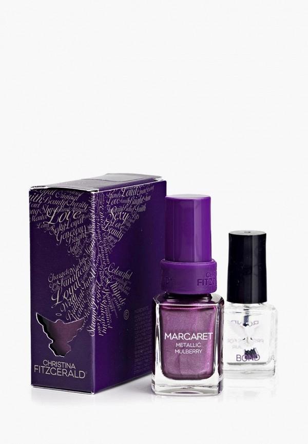 лак для ногтей christina fitzgerald, фиолетовый