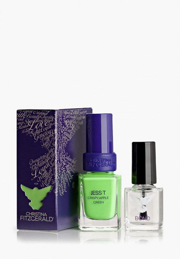 лак для ногтей christina fitzgerald, зеленый