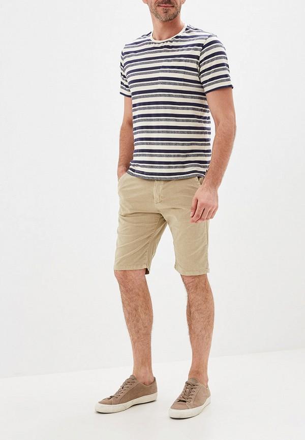 Фото 2 - мужские шорты Chromosome бежевого цвета