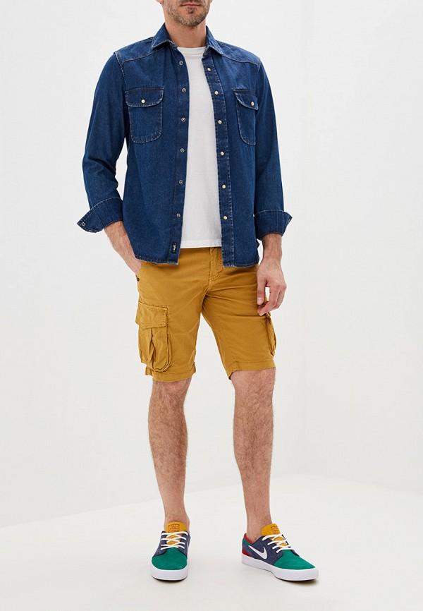 Фото 2 - мужские шорты Chromosome желтого цвета
