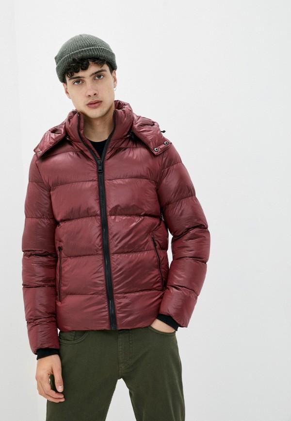 мужская куртка chromosome, бордовая