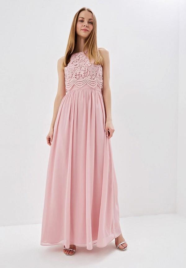 женское платье chi chi london, розовое