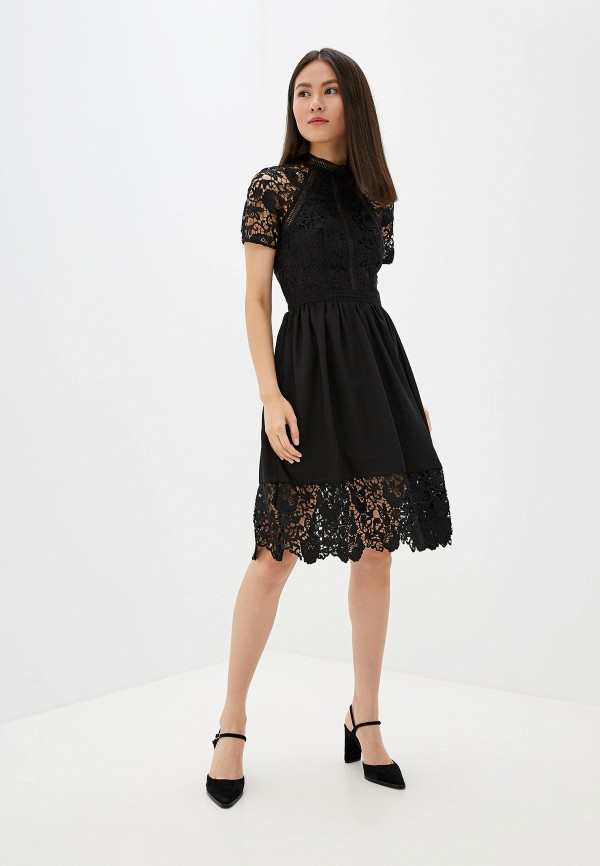 Фото 2 - женское вечернее платье Chi Chi London черного цвета