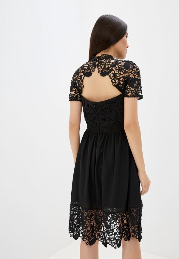 Фото 3 - женское вечернее платье Chi Chi London черного цвета