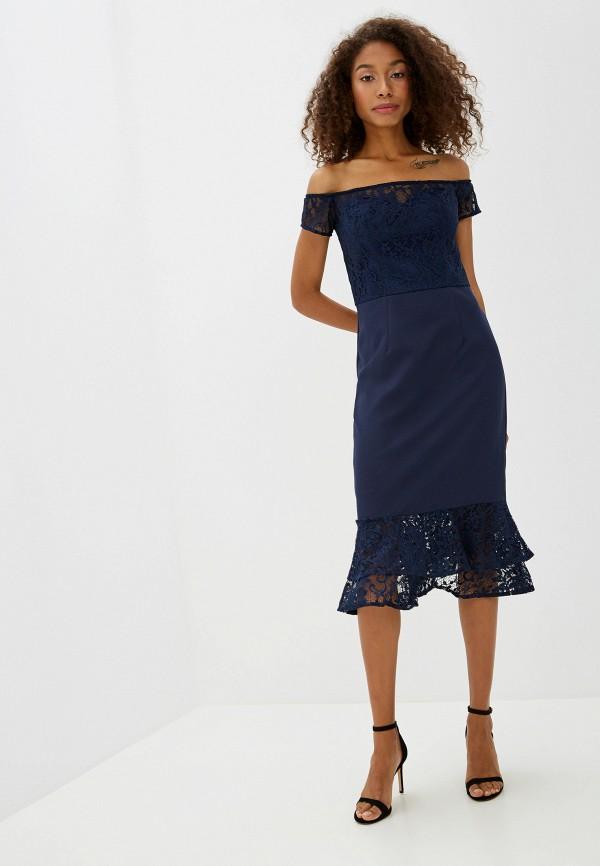 Фото - женское вечернее платье Chi Chi London синего цвета