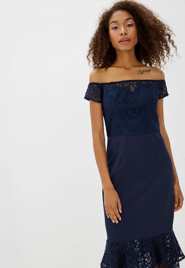 Фото 2 - женское вечернее платье Chi Chi London синего цвета