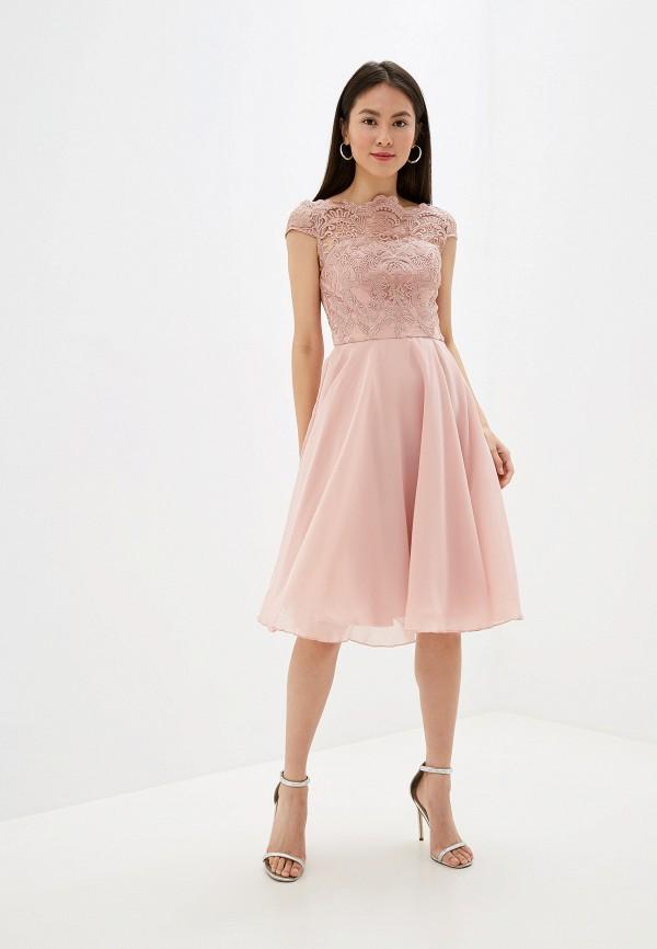 Фото 2 - женское вечернее платье Chi Chi London розового цвета