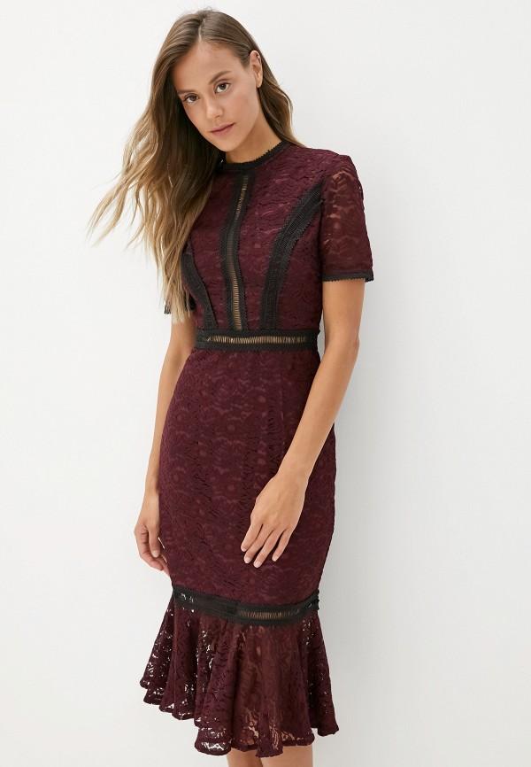 женское вечерние платье chi chi london, фиолетовое