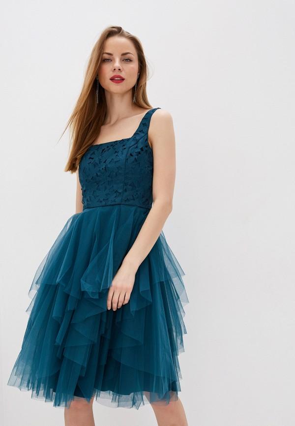 женское вечерние платье chi chi london, бирюзовое