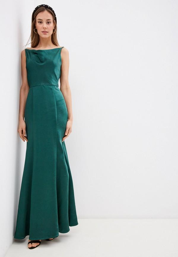 женское вечерние платье chi chi london, зеленое