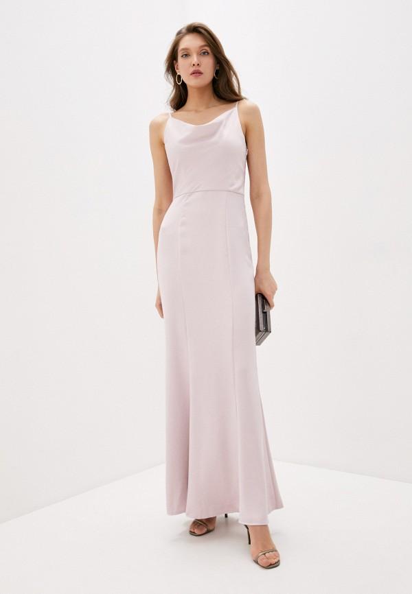 женское вечерние платье chi chi london, розовое