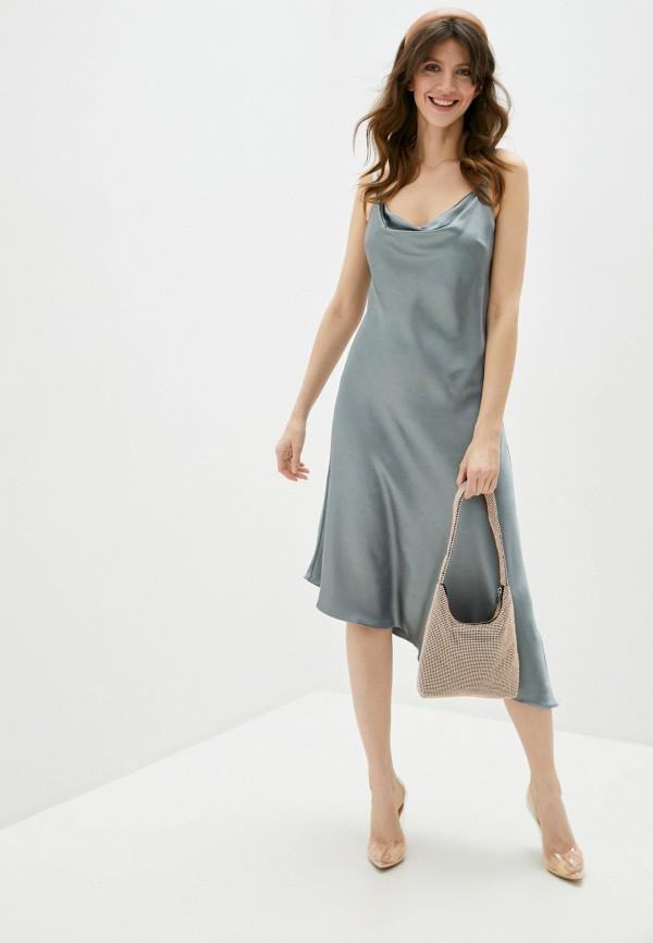 женское платье chi chi london, серое