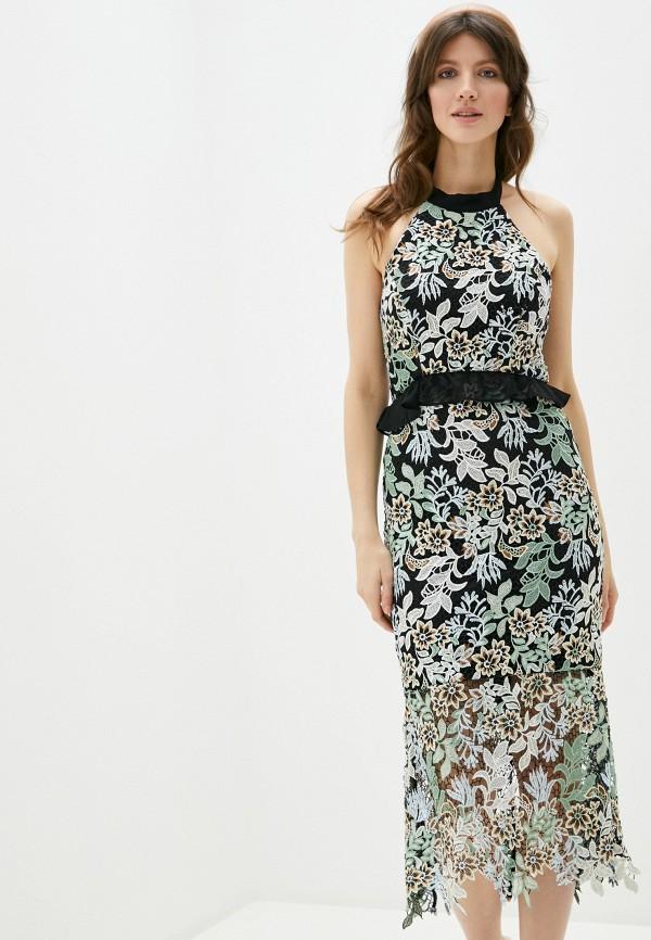 женское повседневные платье chi chi london, черное
