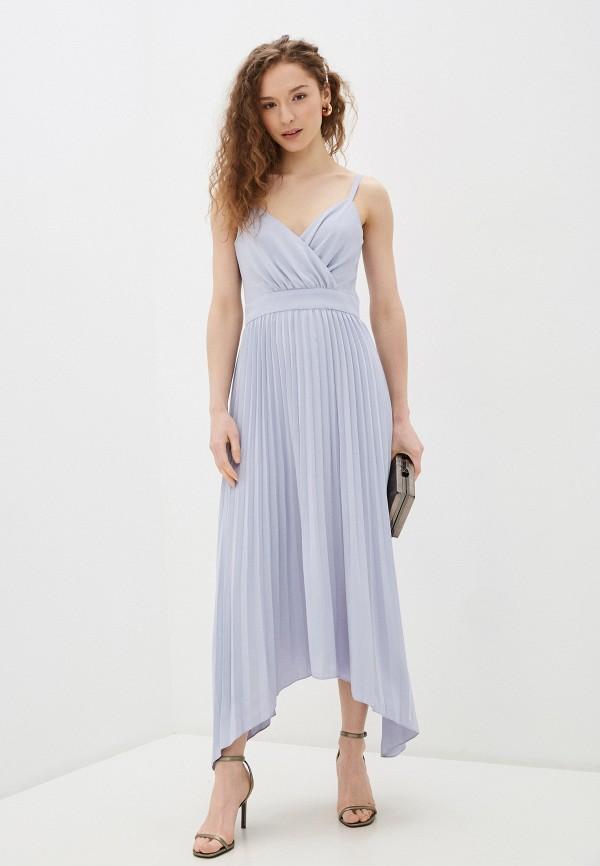 женское вечерние платье chi chi london, голубое