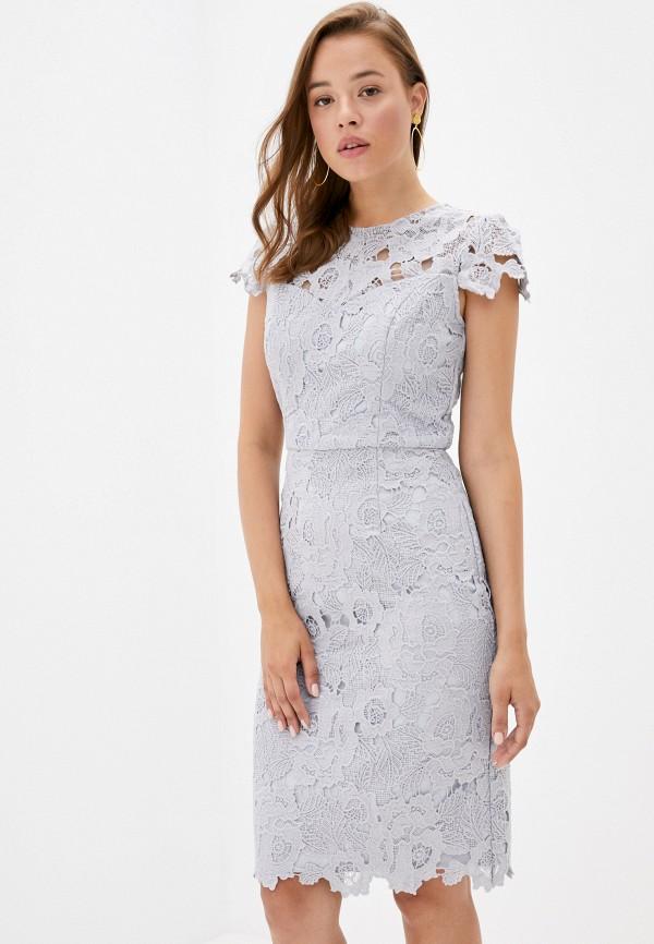 женское повседневные платье chi chi london, серое