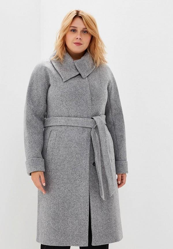 Пальто Chic de Femme Chic de Femme CH055EWCMVR0 chic vivid big leaves pattern chiffon scarf for women