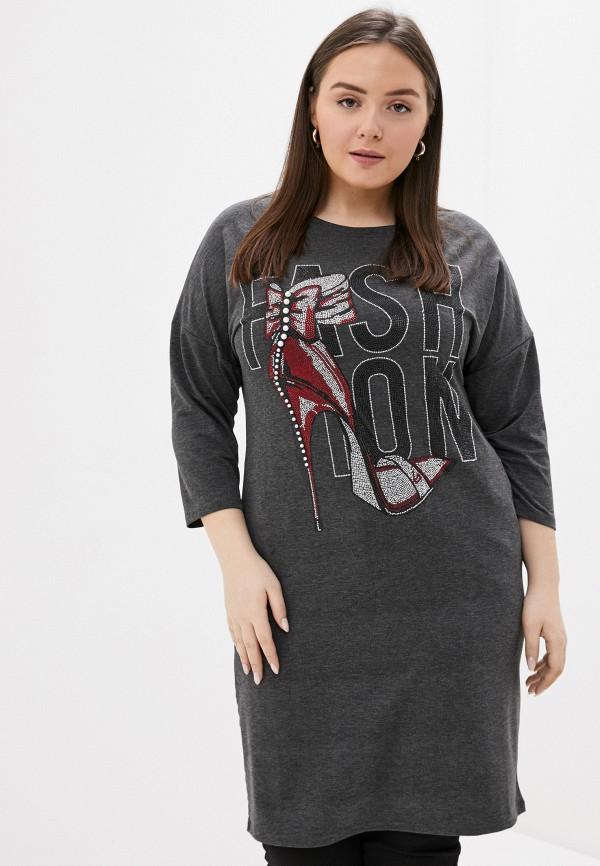 женское платье-толстовки chic de femme, серое