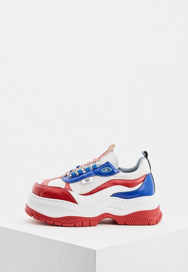 женские кроссовки chiara ferragni collection, красные