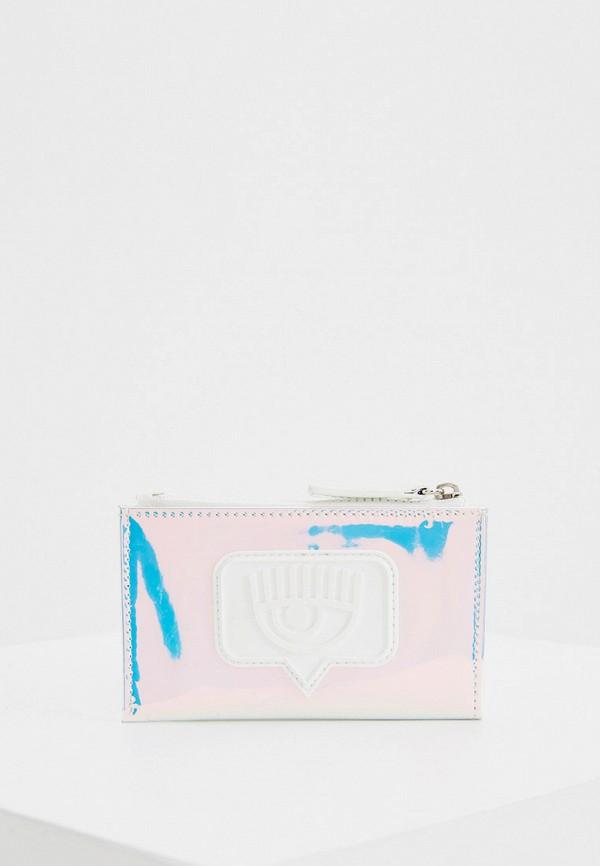 женский кошелёк chiara ferragni collection, голубой