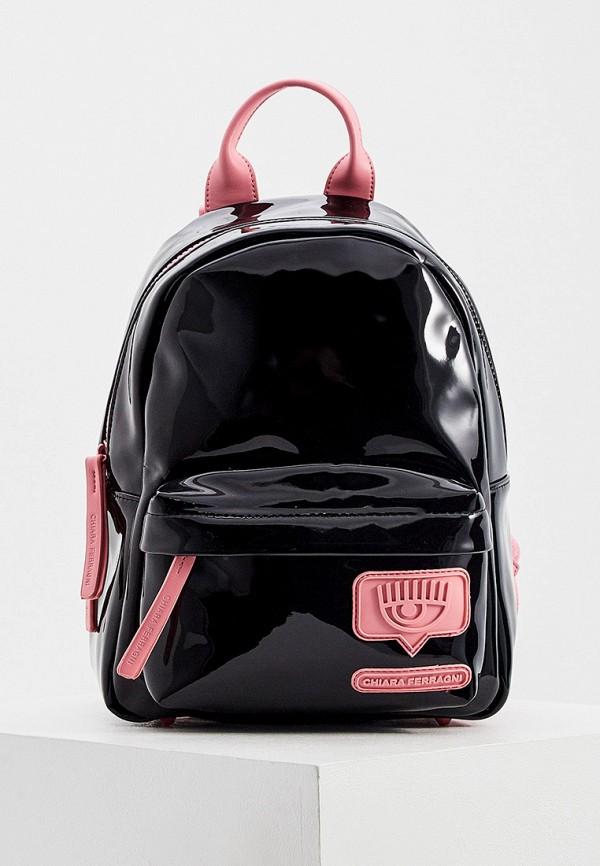 женский рюкзак chiara ferragni collection, черный