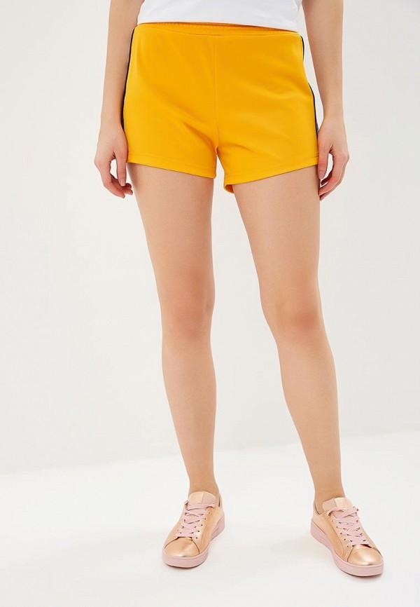женские повседневные шорты chiara ferragni collection, оранжевые
