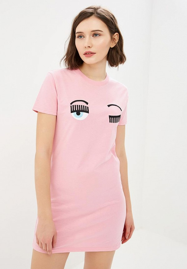 женская туника chiara ferragni collection, розовая