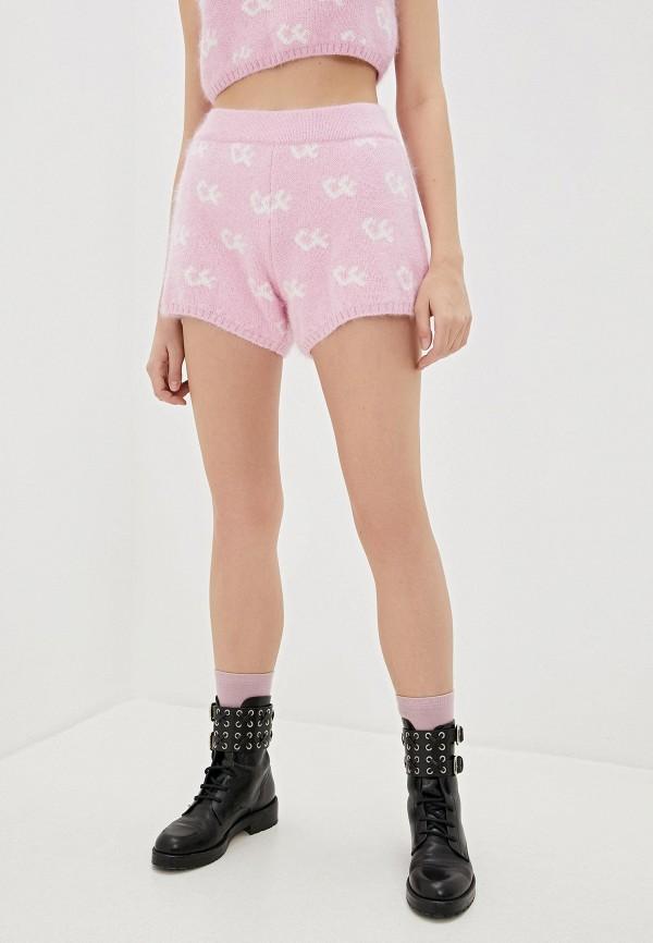 женские повседневные шорты chiara ferragni collection, розовые