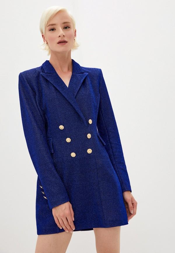 женское вечерние платье chiara ferragni collection, синее