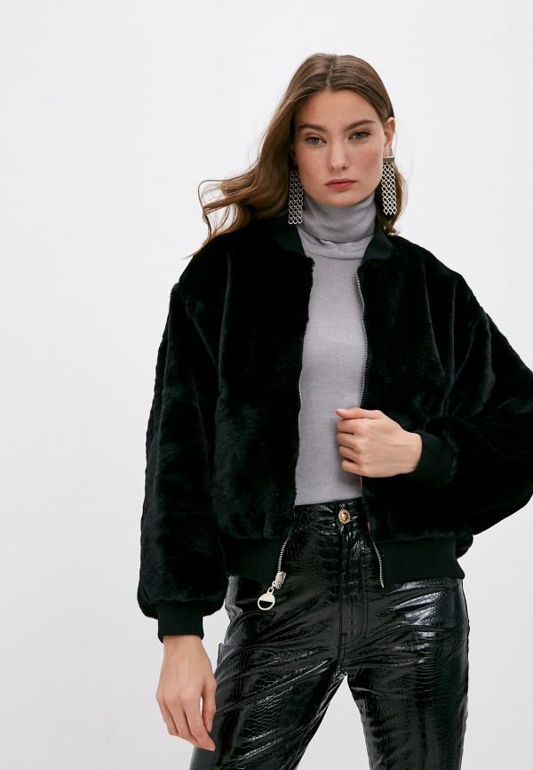 женская шуба chiara ferragni collection, черная