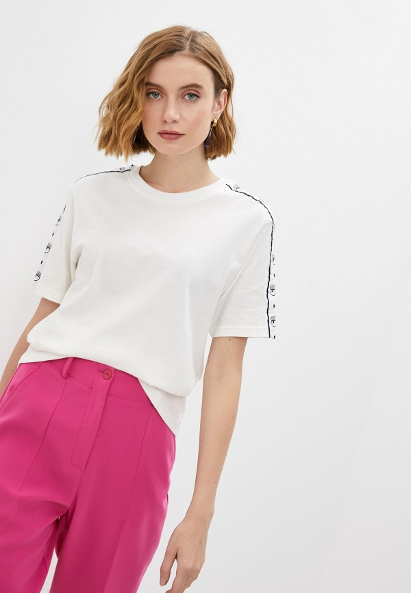 женская футболка chiara ferragni collection, белая
