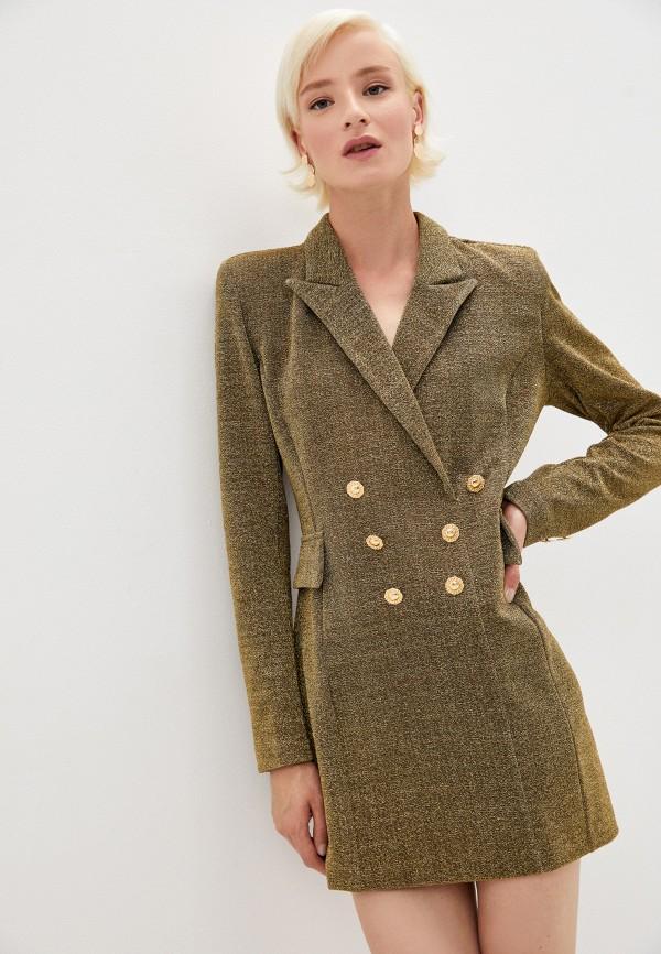 женское вечерние платье chiara ferragni collection, зеленое