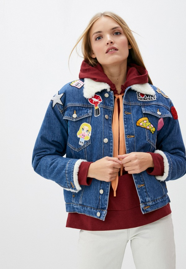 женская джинсовые куртка chiara ferragni collection, синяя