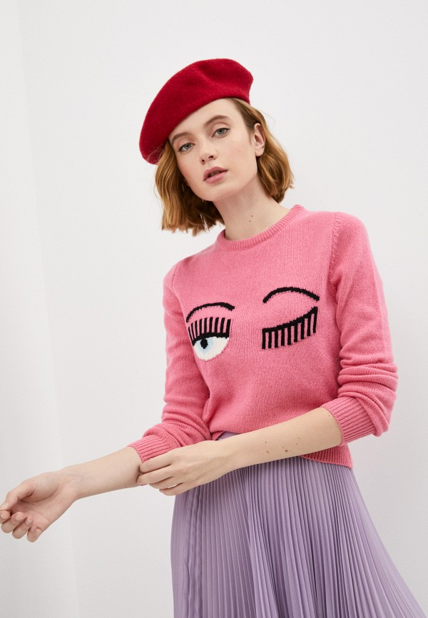 женский джемпер chiara ferragni collection, розовый