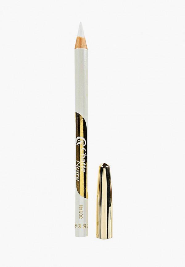 карандаш для глаз chatte noire, белый