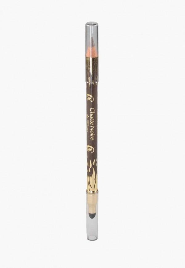 женский карандаш для глаз chatte noire, коричневый