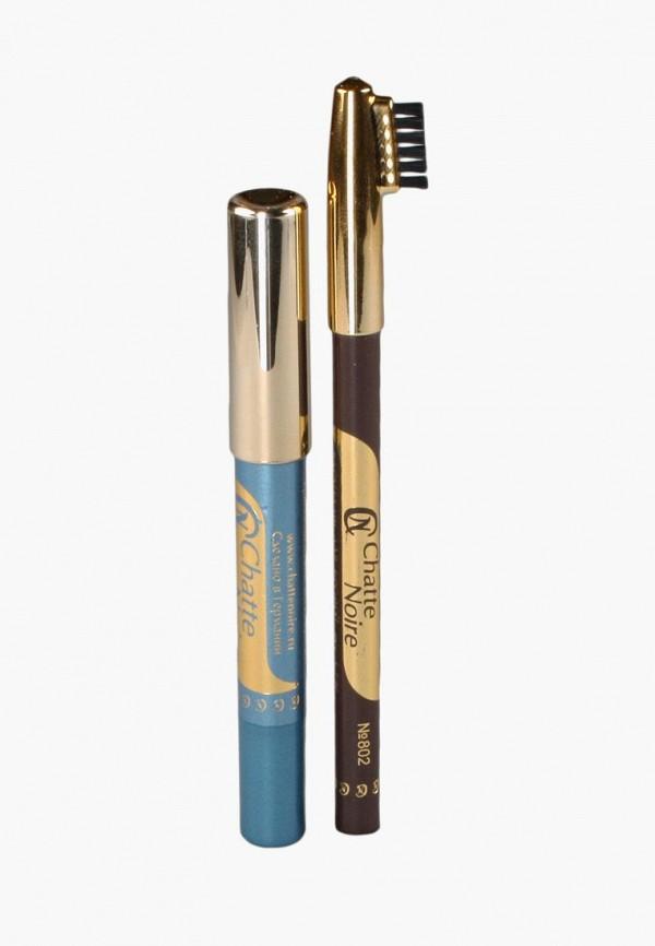 Купить Набор для макияжа бровей Chatte Noire, Карандаш для бровей + Карандаш-тени №116 3, 46, ch059lwbojq8, разноцветный, Осень-зима 2018/2019