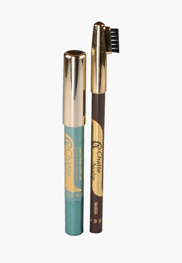 Купить Набор для макияжа бровей Chatte Noire, Карандаш для бровей + Карандаш-тени №118 3, 46, ch059lwbojr0, разноцветный, Осень-зима 2018/2019