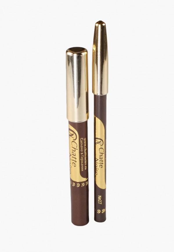 Купить Набор для макияжа глаз Chatte Noire, Карандаш для глаз + Карандаш-тени №52, 5, 75, CH059LWBOJS7, коричневый, Осень-зима 2018/2019
