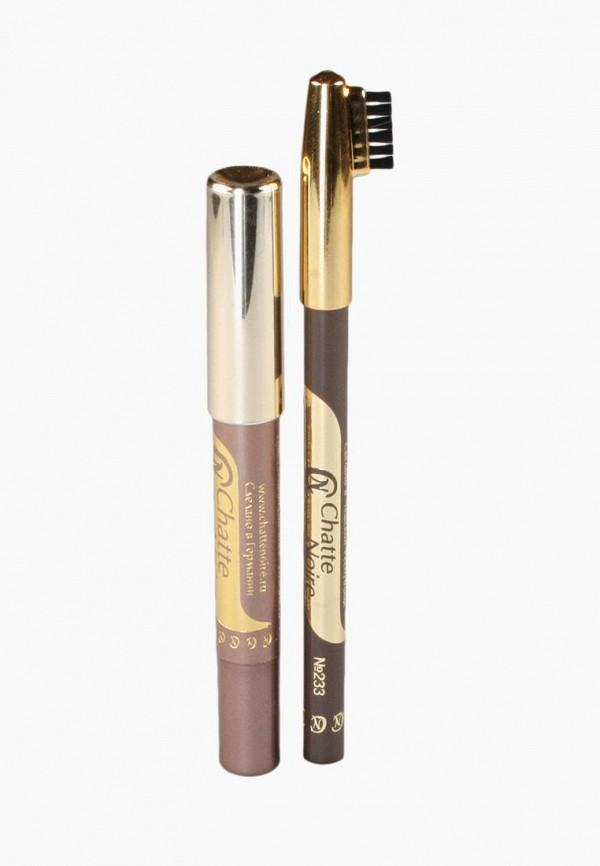 Купить Набор для макияжа бровей Chatte Noire, Карандаш для бровей + Карандаш-тени №103, 2, 85, ch059lwboju2, коричневый, Осень-зима 2018/2019