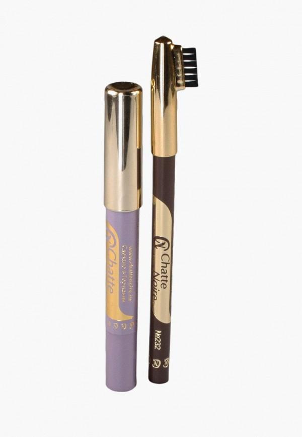 Купить Набор для макияжа бровей Chatte Noire, Карандаш для бровей + Карандаш-тени №104, 2, 85, ch059lwboju3, разноцветный, Осень-зима 2018/2019