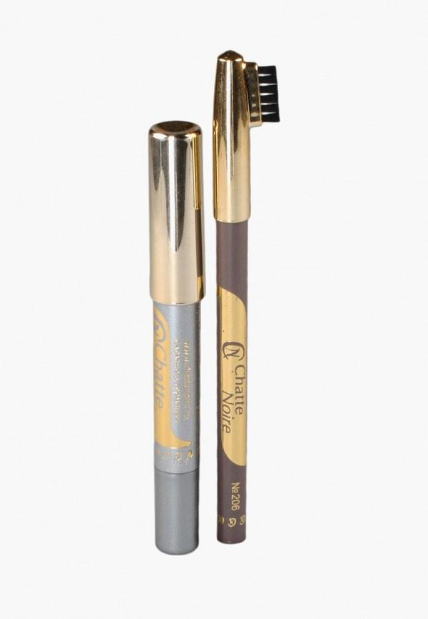Купить Набор для макияжа бровей Chatte Noire, Карандаш для бровей + Карандаш-тени №111, 3, 46, ch059lwboju5, разноцветный, Осень-зима 2018/2019
